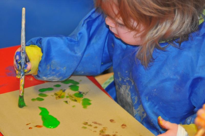 Making marks in sandpaper