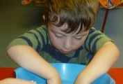 Daisykins Nursery Children Making a Crumble