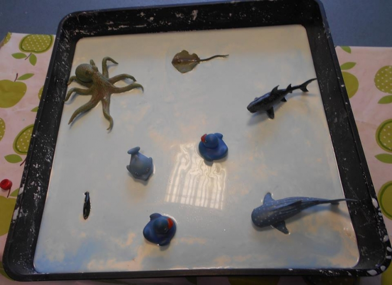 gloop tuft spot with sea animals