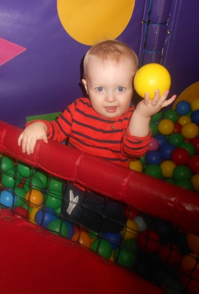 Exploring The Ball Pit In Soft Play