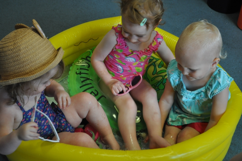 Splashing in the paddling pool