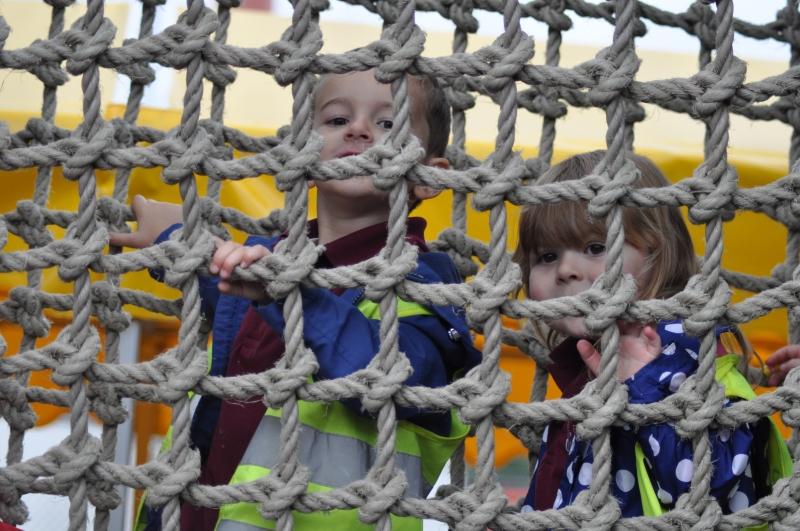 Climbing through the ropes