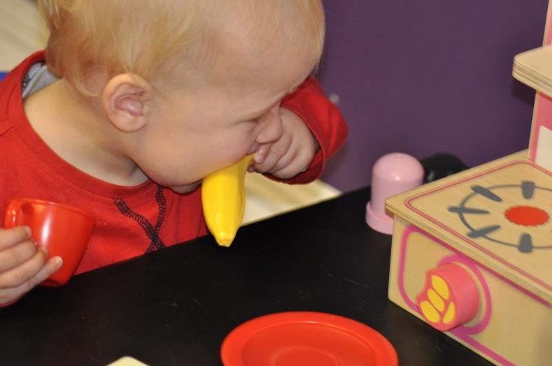 Tasting the banana