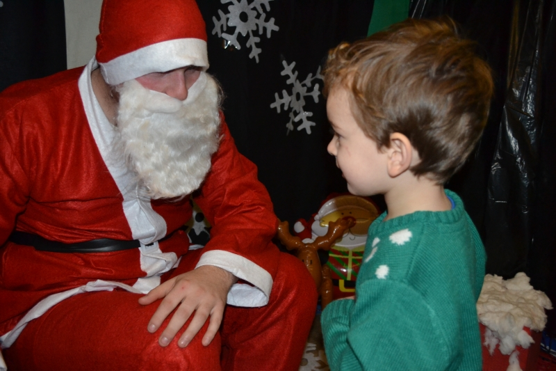 Child meets Father Christmas