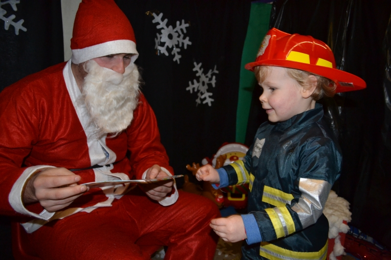 A fireman meets Father Christmas