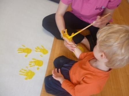 Yellow Hands At Daisykins