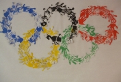 The Famous Olympic Rings Created By Daisykins Children