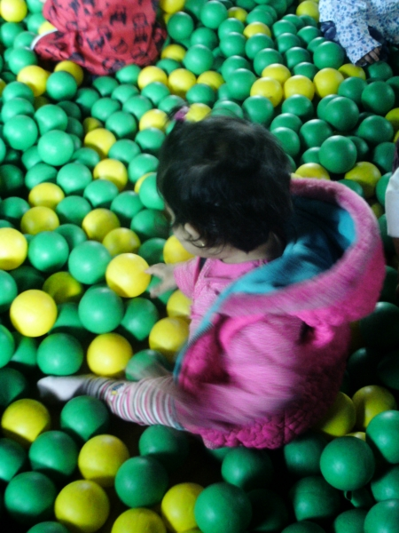 Playing in the soft play
