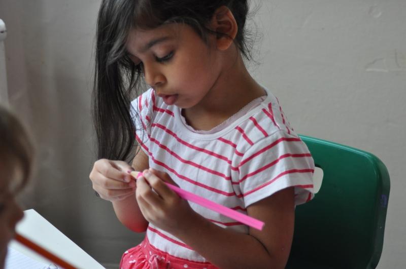 Using a pencil