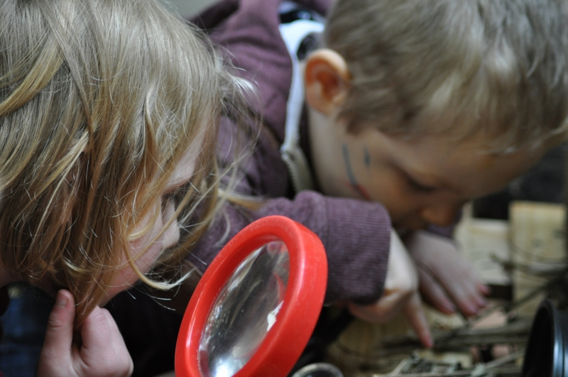Looking through the magnifying glasses