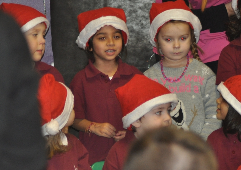Singing Christmas songs at nursery