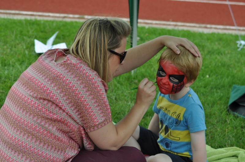 Having face painted