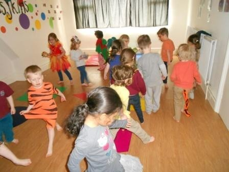 Children dress up as jungle animals