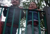 Preschool children playing in the park