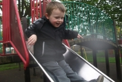Rugby preschool children on the slide