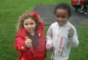 Children from Daisykins playing in the park