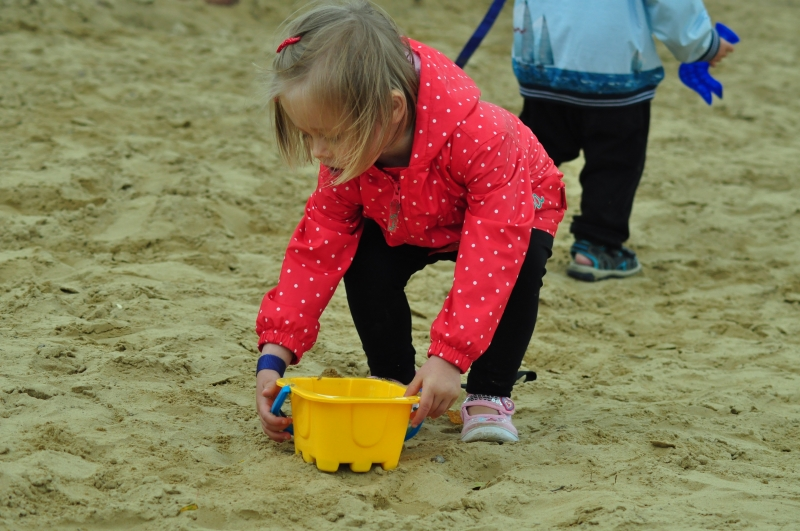 Digging in the sand pit