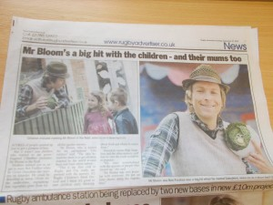 Mr Bloom visits daisykins nursery in Rugby
