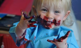 Children get all messy for National Messy Dais