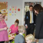Nicky Morgan Visits Daisykins at Rugby Free Primary School